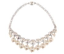 Halskette mit Kristallen und Zierperlen