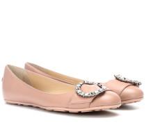 Verzierte Ballerinas Ginny aus Leder