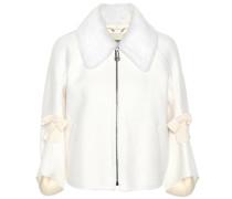 Jacke aus Wolle mit Nerz