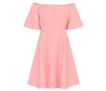 Off-Shoulder-Kleid aus Wolle und Seide