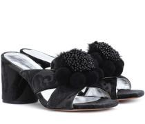 Verzierte Sandalen aus Jacquard