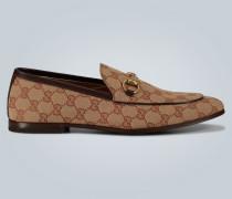 Horsebit-Loafers aus Canvas