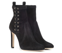 Ankle Boots Mallory 100 aus Veloursleder
