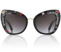 Bedruckte Sonnenbrille aus Acetat