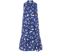 Bedrucktes Hemdblusenkleid aus Baumwolle