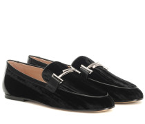 Loafers Double T aus Samt