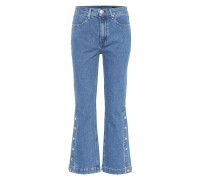 Flared Cropped Jeans Snap Dylan