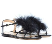 Sandalen Fifi aus Leder mit Federn