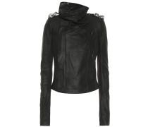 Verzierte Jacke aus Leder