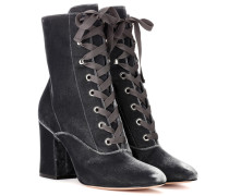 Ankle Boots Mackay 85 aus Samt