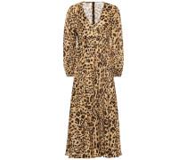 Bedrucktes Kleid Veneto aus Leinen