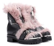 Alexander McQueen Stiefel aus Leder mit Wolle