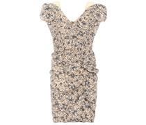 Bedrucktes Kleid Topaz aus Leinen