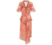 Kleid Misty mit Devoré-Satin