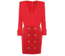 Verziertes Kleid aus Stretch-Jersey