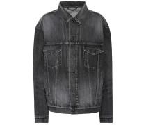 Oversize-Jeansjacke aus Baumwolle