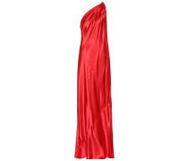 One-Shoulder Robe aus Satin