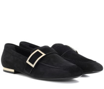 Loafers Metal Buckle aus Veloursleder