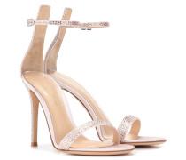 Verzierte Sandalen Glam aus Satin