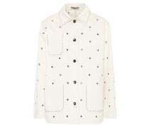 Verzierte Jacke aus Baumwolle