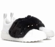 Garavani Sneakers aus Leder mit Nerz