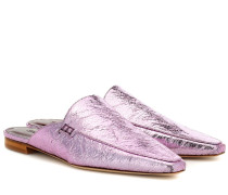 Slippers Lia aus Metallic-Leder