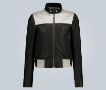 Jacke aus Leder und Canvas