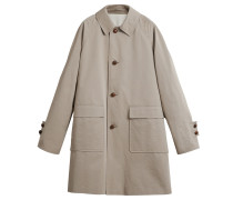 Gewachster Mantel aus Baumwoll-Gabardine