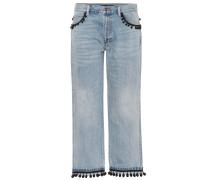 Verzierte Cropped Jeans aus Baumwolle