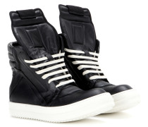 High-Top-Sneakers Geobasket aus Leder