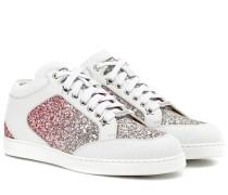 Sneakers Miami aus Leder und Glitter