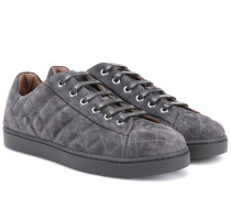 Sneakers Low Driver aus Veloursleder