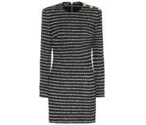 Gestreiftes Minikleid aus Tweed