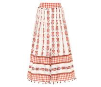 Hose mit weitem Bein aus Baumwolle