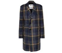 Karierter Mantel aus einem Wollgemisch