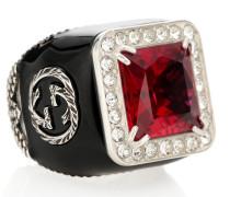 Ring aus Sterlingsilber mit Kristallen