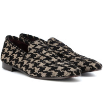Loafers aus Tweed