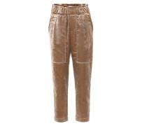 Cropped Hose aus Samt