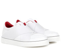 Slip-On-Sneakers aus Leder
