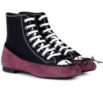 Verzierte High-Top-Sneakers