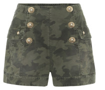 Bedruckte Shorts aus Twill