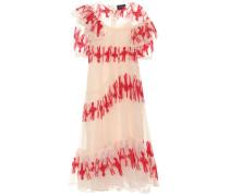 Semi-transparentes Kleid aus Tüll mit Volants