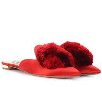 Slippers Powder Puff aus Satin