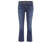 Cropped Jeans Selena aus Baumwolle Mid-Rise