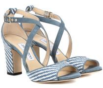 Sandalen Carrie 85 aus Bast