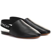 Slingback-Slippers aus Leder