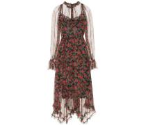Kleid aus Seide mit Blumenprint