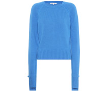 Cropped Pullover aus Cashmere