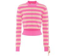 Cropped-Pullover mit Schnürung