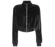 Cropped-Jacke aus Samt